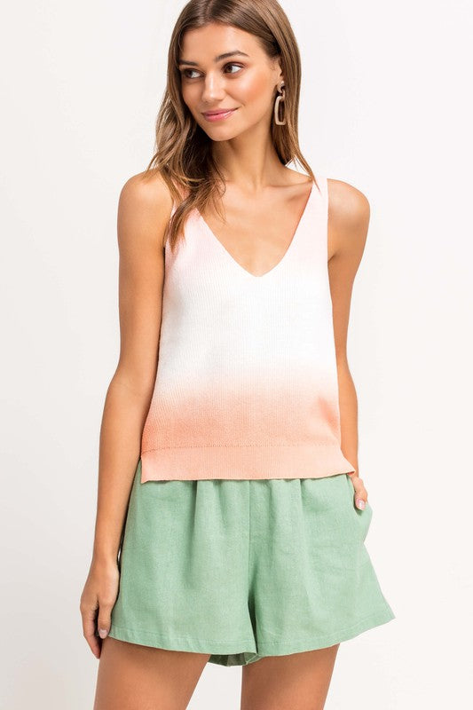 Ombre Sweater Tank