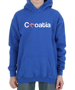 Hoodie - Croatia Youth Royal Blue