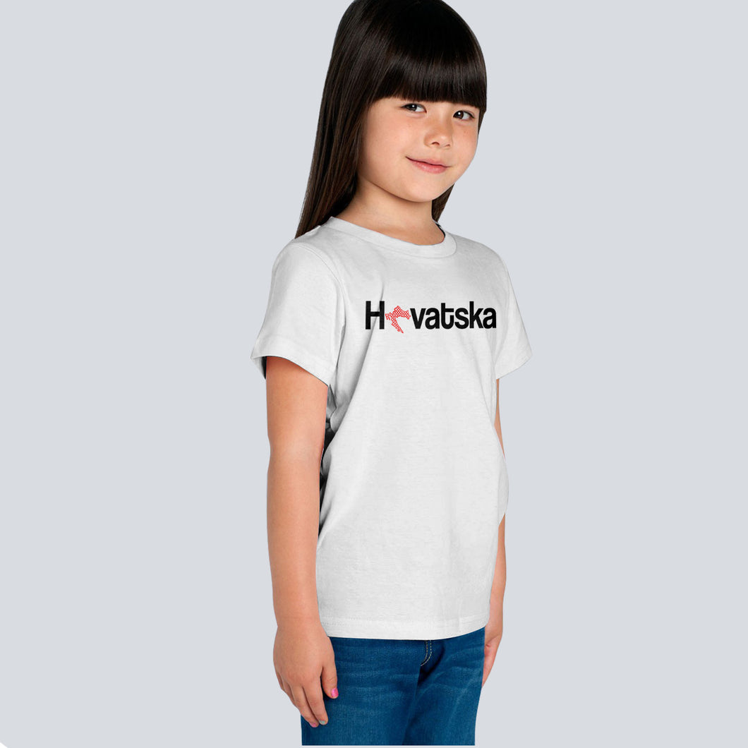T-shirt - Hrvatska Youth White