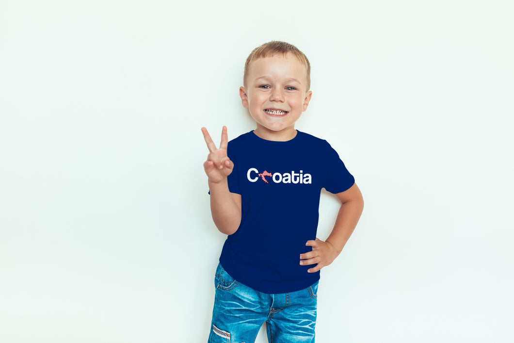 T-shirt - Croatia Toddler Royal Blue