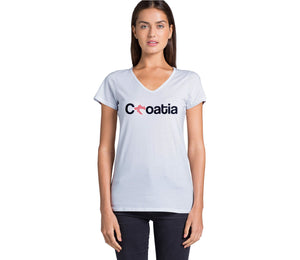 T-shirt - Croatia Women White