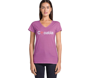T-shirt - Croatia Women Azalea Pink
