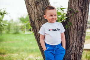 T-shirt - Croatia Toddler White