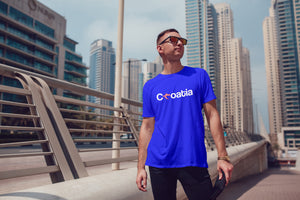 T-shirt - Croatia Men's Royal Blue