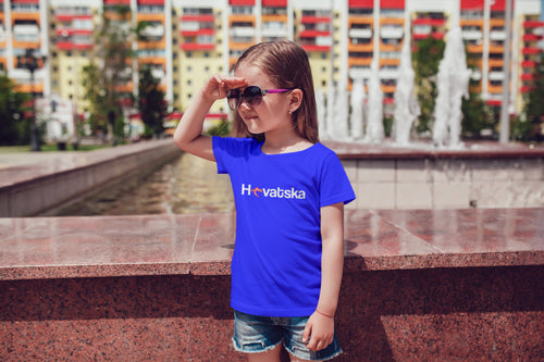 T-shirt - Hrvatska Toddler Royal Blue