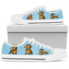 Dachshund  Light Blue Low Top