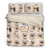 Pug Pink Bedding Set 2610p1
