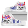 Yorkie Women's High Top Canvas Shoe White PT29