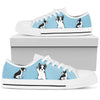 Boston Terrier Light Blue low Top