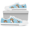 Beagle Light Blue Low Top
