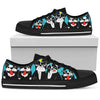 French bulldog women's Low Top Canvas Shoe Black 293 NHH