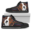 Beagle Men's High Top Canvas Shoe Black PT29