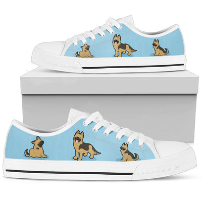 German Shepherd Light Blue Low Top