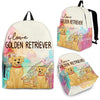 Golden Retriever Backpack Bag Ja03VA