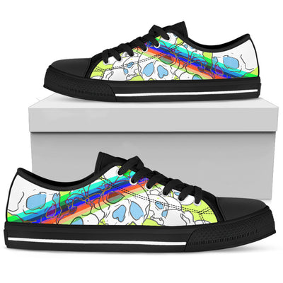 Skull Rainbow Low Top Shoes