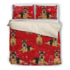 German Shepherd  1810 Christmas Bedding duvet
