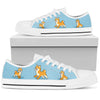 shiba Inu Light Blue Low Top
