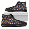 Jack Russell Men's High Top Canvas Shoe Black PT29