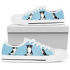 Border Collie Light Blue Low Top