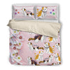 Cat  Pink Bedding Set