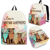 German Shepherd Backpack Bag Ja03VA
