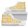 Shiba Inu High Top Canvas Shoe White PT30