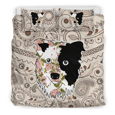 Border Collie Bedding sets Black 4-9T2
