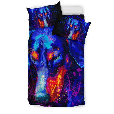 Doberman Bedding Sets Black 3-10T2