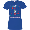 French Bulldog Christmas T-shirts 3516 LAT Ladies' Fine Jersey T-Shirt