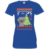 Weimaraners Christmas T-shirts 3516 LAT Ladies' Fine Jersey