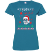 Great dane  Christmas T-shirts 3516 LAT Ladies' Fine Jersey T-Shirt
