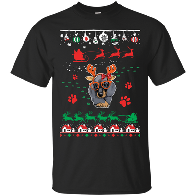 Dachshund Christmas T-shirts G200 Gildan Ultra Cotton