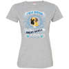 I WAS NORMAL 3 - Great Danes 3516 LAT Ladies' Fine Jersey T-Shirt