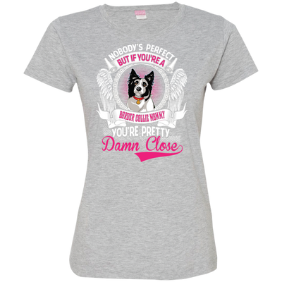 Border Collie  mommy Tshirt 3516 LAT Ladies' Fine Jersey T-Shirt