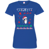 Bernese Mountain Christmas T-shirts 3516 LAT Ladies' Fine Jersey T-Shirt