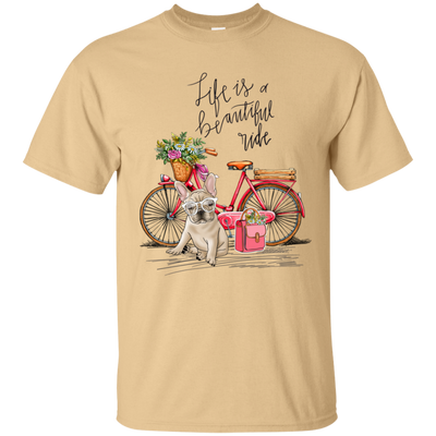 Ottedesign French Bulldog Bike T-Shirt 8 colors Pm