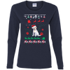 Labrador  Christmas T-shirts G540L Gildan Ladies' Cotton LS T-Shirt