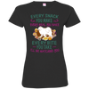 Samoyed Snack Tshirt 3516 LAT Ladies' Fine Jersey T-Shirt