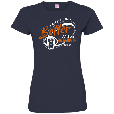 ENGLISH MASTIFF  Better Tshirt 3516 LAT Ladies' Fine Jersey T-Shirt