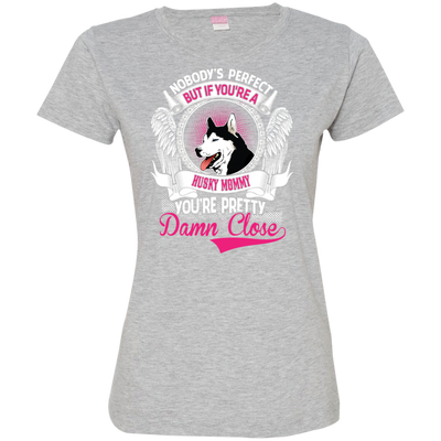 Husky mommy Tshirt 3516 LAT Ladies' Fine Jersey T-Shirt