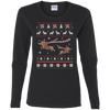 Dachshund Christmas T-shirts G540L Gildan Ladies' Cotton