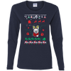 French Bulldog Christmas T-shirts G540L Gildan Ladies' Cotton LS