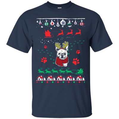 French Bulldog Christmas T-shirts G200 Gildan Ultra Cotton T-Shirt