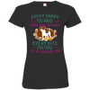 Jack russell Snack Tshirt 3516 LAT Ladies' Fine Jersey T-Shirt