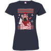 Christmas french bulldog 3516 LAT Ladies' Fine Jersey T-Shirt