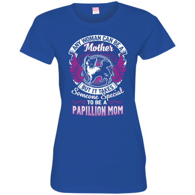 papillon Mom Tshirt 3516 LAT Ladies' Fine Jersey T-Shirt