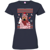 Christmas german shepherd 3516 LAT Ladies' Fine Jersey T-Shirt