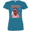 Christmas doberman 3516 LAT Ladies' Fine Jersey T-Shirt