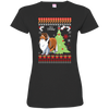 Collie Christmas T-shirts 3516 LAT Ladies' Fine Jersey