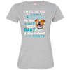 I_m a Baby  Staffordshire 3516 LAT Ladies' Fine Jersey T-Shirt